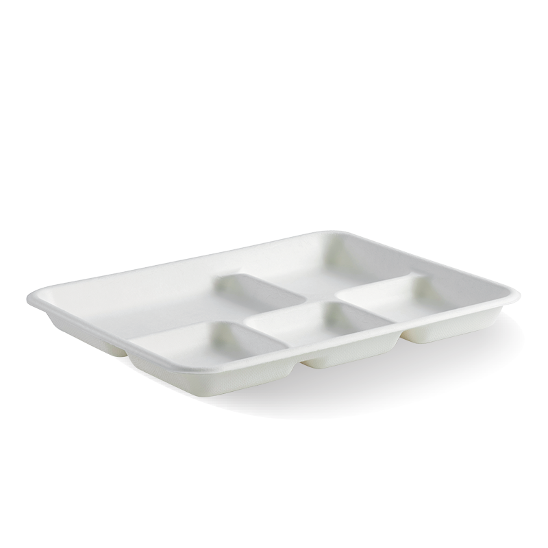 & 5-Compartment BioCane Tray - BioPak