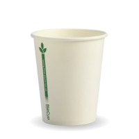 White Green Line Cups